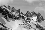 The Minarets in winter, Ansel Adams Wilderness, Sierra Nevada Mountains, California USA