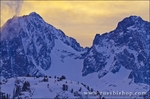 Evening light on Banner and Ritter Peaks, Ansel Adams Wilderness, Sierra Nevada Mountains, California USA