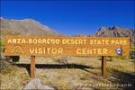 Entrance sign at the visitor center, Anza-Borrego Desert State Park, California USA