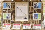 Interepretive trail sign, Borrego Palm Canyon, Anza-Borrego Desert State Park, California USA