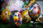Painted eggs, Paris, France