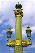 Lamps and column, Place de la Concorde, Paris, France