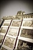 Souvenirs for sale along the Seine, Paris, France