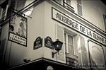 Street corner in Montmartre, Paris, France