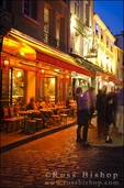 Montmartre at night, Paris, France