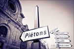 Street signs in front of the Paris-Orleans building, Paris, France