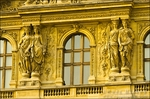 Statue detail at the Louvre Palace, Louvre Museum, Paris, France