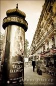 Movie poster on Boulevard Saint Germain, Left Bank, Paris, France