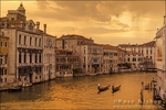 Evening light on the Grand Canal, Venice, Italy