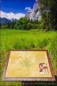 Interpretive sign, Yosemite Valley, Yosemite National Park, California USA