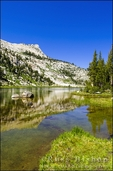 Elizabeth Lake under Unicorn Peak, Tuolumne Meadows, Yosemite National Park, California USA