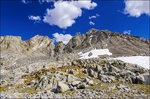Mount Agassiz above Bishop Pass, John Muir Wilderness, Sierra Nevada Mountains, California USA