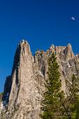 Moonrise over Sentinel Rock, Yosemite National Park, California USA