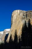 Morning light on El Capitan in winter, Yosemite National Park, California USA