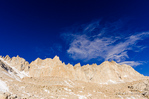 The Sierra crest from the Mount Whitney trail, John Muir Wilderness, Sierra Nevada Mountains, California USA