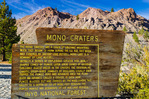 Interpretive sign at Mono Craters, Mono Basin National Scenic Area, California USA