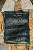 Interpretive plaque at the General Patton Memorial Museum, Indio, California USA