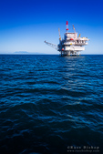 Offshore oil platform in the Santa Barbara Channel, Ventura, California USA