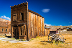 The Swazey Hotel and wagon, Bodie State Historic Park, California USA