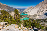 Big Pine Lakes basin under the Palisades, John Muir Wilderness, California USA