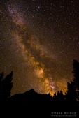 The Milky Way over the Palisades, John Muir Wilderness, Sierra Nevada Mountains, California USA