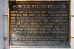 Historic plaque on the Mono County Courthouse, Bridgeport, California USA