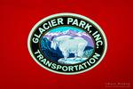 Glacier Park Transportation logo, Glacier National Park, Montana USA