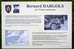WWII memorial to G.I. Bernard Dargols on Omaha Beach, Normany, France