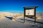 Kiosk at the Alkali Flat trailhead, White Sands National Monument, New Mexico USA
