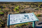 Interpretive sign on the Malpais Nature Trail, Valley of Fires Natural Recreation Area, Carrizozo, New Mexico USA