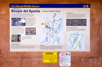 Interpretive sign at Bosque del Apache National Wildlife Refuge, New Mexico USA