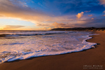 Sunset and surf, Ventura, California USA