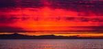 Sunset over Santa Cruz Island, Channel Islands National Park, Ventura, California USA