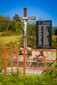 Memorial to local residents killed in war, Karlovac County, Croatia