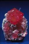 mineral, Rhodochrosite on quartz