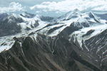 Alaska Mountain Range, aerial