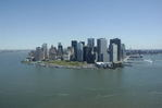 """Downtown New York City, aerial, """"The Battery"""""""