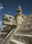Feathered serpent, Temple of the Warriors, Mayan ruin, Chichen Itza, Yucatan, Mexico