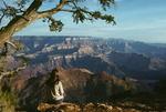Kathy at Desert View, Grand Canyon