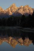 sunrise at Schwabacher Landing beaver pond,  Grand Teton National Park,  Wyoming