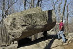 Tripod Rock, a glacier erratic, Pyramid Mountain Park, New Jersey