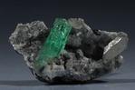 Beryl var. Emerald, Muzo Mine, Colombia (6x3cm) emerald is 3x.75cm