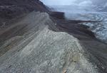 lateral moraine, Athabasca Glacier, Jasper National Park, Alberta, Canada