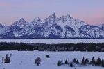 Grand Tetons before sunrise, WY
