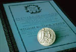 William Butler Yeats Nobel medal and document