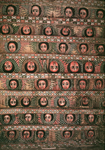 Ethiopia, near Gondar, 17th century, Byzantine church ceiling comprised of decorations depicting the heads of angels, some 40 of them.