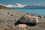 New Zealand, South Island, Lake Pukaki. Mt. Cook or Aoraki.