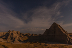 North America, USA, South Dakota, Badlands National Park, formations,stars