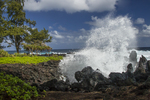 North America, USA, Hawaii, Laupahoehoe Park, wave crash