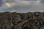 North America, USA, Hawaii, Kilauea, volcano, lava flowing with rainbow